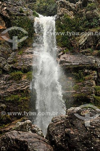 Assunto: Cachoeira do Capão Forro no complexo da Serra da Canastra / Local: São Roque de Minas - Minas Gerais (MG) - Brasil / Data: 03/2013