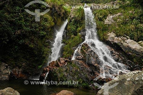 Assunto: Segunda queda da Cachoeira do Ouro no Rio do Ouro - complexo da Serra da Canastra / Local: Delfinópolis - Minas Gerais (MG) - Brasil / Data: 03/2013