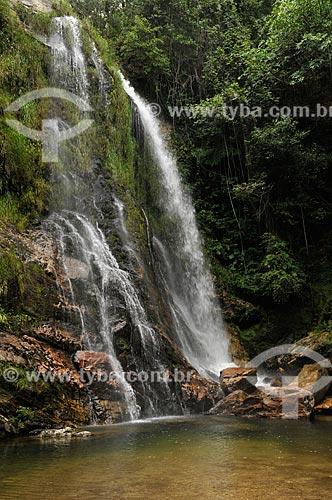 Assunto: Terceira queda da Cachoeira do Ouro no Rio do Ouro - complexo da Serra da Canastra / Local: Delfinópolis - Minas Gerais (MG) - Brasil / Data: 03/2013