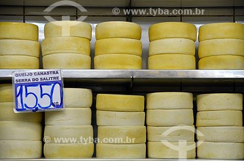 Assunto: Queijo Canastra à venda no Mercado Central de Belo Horizonte (1929) / Local: Belo Horizonte - Minas Gerais (MG) - Brasil / Data: 01/2013