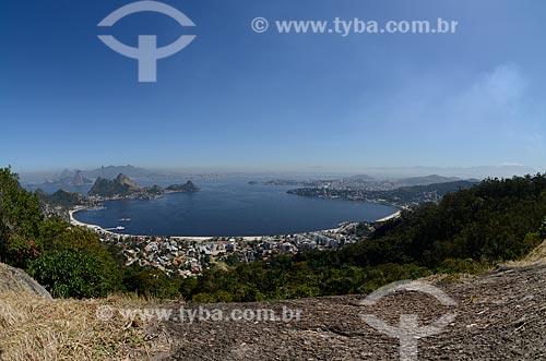 Assunto: Vista geral da Enseada de São Francisco a partir do Parque da Cidade de Niterói / Local: Niterói - Rio de Janeiro (RJ) - Brasil / Data: 08/2012