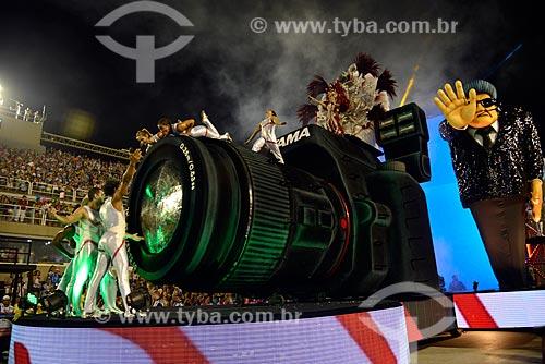Assunto: Desfile do Grêmio Recreativo Escola de Samba Acadêmicos do Salgueiro - Carro abre-alas - Enredo 2013 - Fama / Local: Rio de Janeiro (RJ) - Brasil / Data: 02/2013