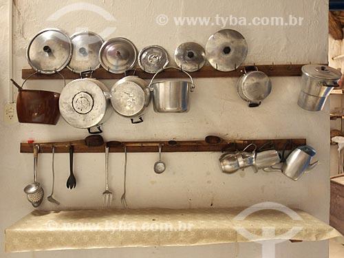 Assunto: Utensílio de cozinha da Fazenda Não me Deixes - que pertenceu a Rachel de Queiroz / Local: Daniel de Queiróz - Quixadá - Ceará (CE) - Brasil / Data: 04/2013