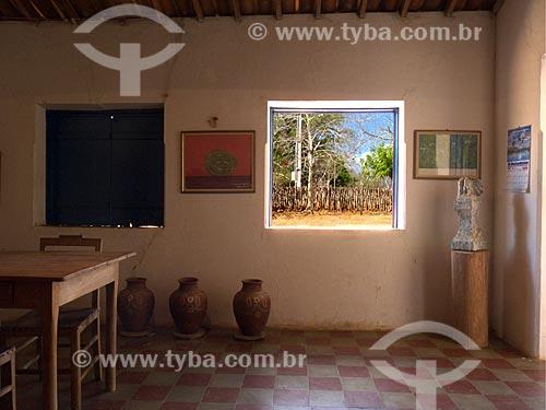 Assunto: Interior da Fazenda Não me Deixes - que pertenceu a Rachel de Queiroz / Local: Daniel de Queiróz - Quixadá - Ceará (CE) - Brasil / Data: 04/2013