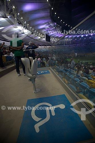 Assunto: Espaço reservado para portadores de necessidades especiais no evento-teste do Estádio Jornalista Mário Filho - também conhecido como Maracanã / Local: Maracanã - Rio de Janeiro (RJ) - Brasil / Data: 04/2013