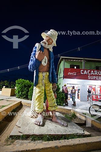 Assunto: Estátua do Pescador na Praça do Pescador  / Local: Distrito de Pipa - Tibau do Sul - Rio Grande do Norte (RN) - Brasil / Data: 03/2013