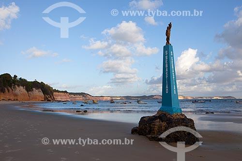 Assunto: Estátua de São Sebastião na Praia do Centro  / Local: Distrito de Pipa - Tibau do Sul - Rio Grande do Norte (RN) - Brasil / Data: 03/2013