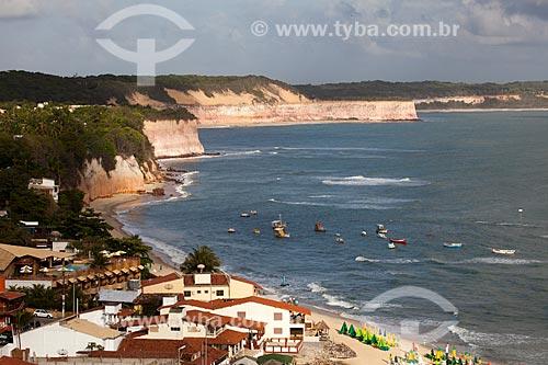 Assunto: Falésias na Praia do Centro / Local: Distrito de Pipa - Tibau do Sul - Rio Grande do Norte  (RN) -  Brasil / Data: 03/2013