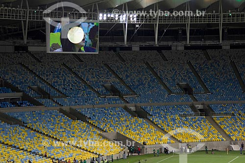 Evento-teste do Maracanã - jogo entre amigos de Ronaldo Fenômeno x amigos de Bebeto que marca a reabertura do estádio  - Rio de Janeiro - Rio de Janeiro - Brasil