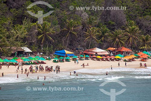 Assunto: Barracas na Praia do Madeiro / Local: Distrito de Pipa - Tibau do Sul - Rio Grande do Norte (RN) - Brasil / Data: 03/2013