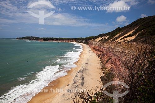 Assunto: Falésias na Baía dos Golfinhos - também conhecida como Praia do Canto / Local: Distrito de Pipa - Tibau do Sul - Rio Grande do Norte (RN) - Brasil / Data: 03/2013