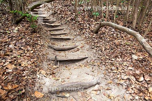 Assunto: Escada na trilha chamada Velho Castelo no Santuário Ecológico de Pipa / Local: Tibau do Sul - Rio Grande do Norte (RN) - Brasil / Data: 03/2013