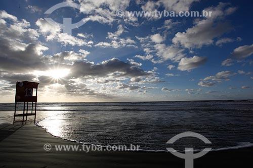 Assunto: Entardecer na Praia do Cassino / Local: Rio Grande - Rio Grande do Sul (RS) - Brasil / Data: 04/2013