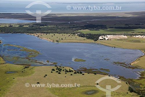 Assunto: Vista aérea da Lagoa dos Patos / Local: Rio Grande do Sul (RS) - Brasil / Data: 04/2013