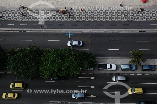 Assunto: Vista da Avenida Delfim Moreira e o calçadão da Praia do Leblon / Local: Leblon - Rio de Janeiro (RJ) - Brasil / Data: 05/2013