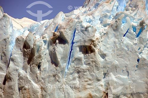 Assunto: Detalhe do Glaciar Perito Moreno (Geleira Perito Moreno) / Local: Província de Santa Cruz - Argentina - América do Sul / Data: 01/2012