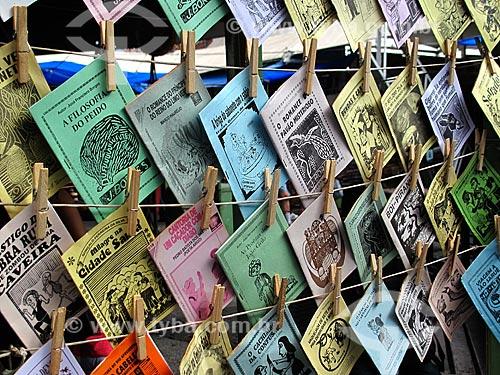 Assunto: Cordéis em exibição no Centro Luiz Gonzaga de Tradições Nordestinas / Local: São Cristovão - Rio de Janeiro (RJ) - Brasil / Data: 05/2013
