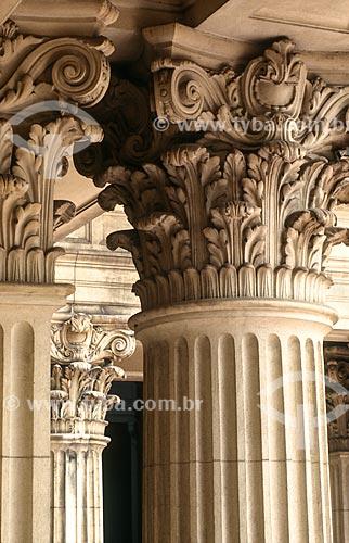Assunto: Capitéis e colunas do Grande Hall da Sala São Paulo - sede da Orquestra Sinfônica do Estado de São Paulo / Local: São Paulo (SP) - Brasil / Data: 1997