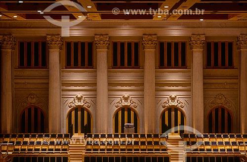 Assunto: Parte superior do fundo do palco da Sala São Paulo / Local: São Paulo (SP) - Brasil / Data: 1999