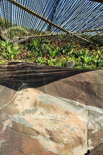 Assunto: Inscrições rupestres próximas ao Costão do Santinho Resort na Praia do Santinho / Local: Florianópolis - Santa Catarina (SC) - Brasil / Data: 06/2013