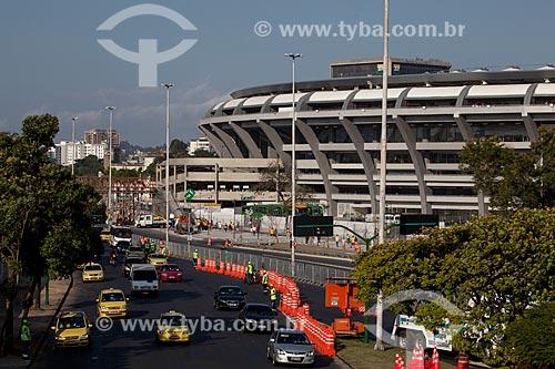 Desvio no trânsito na Avenida Radial Oeste no acesso ao Maracanã para o jogo amistoso entre Brasil x Inglaterra  - Rio de Janeiro - Rio de Janeiro - Brasil