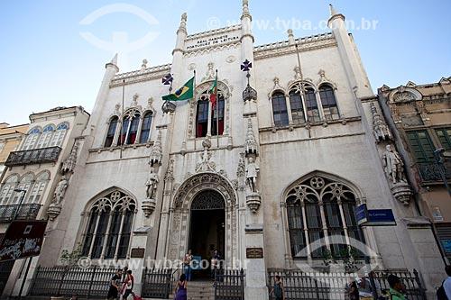Assunto: Fachada do Real Gabinete Português de Leitura (1887) / Local: Rio de Janeiro (RJ) - Brasil / Data: 06/2013
