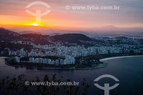Assunto: Vista do Aterro do Flamengo com o Morro da Viúva / Local: Flamengo - Rio de Janeiro (RJ) - Brasil / Data: 06/2013