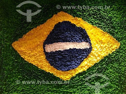 Assunto: Tapete da bandeira do Brasil à venda na Centro Luiz Gonzaga de Tradições Nordestinas - foto feita com celular Samsung Galaxy S3 / Local: São Cristovão - Rio de Janeiro (RJ) - Brasil / Data: 05/2013