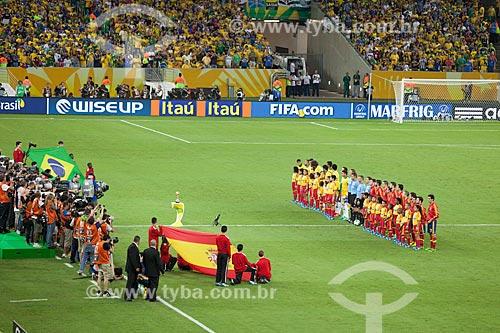 Seleção Brasileira e Espanhola no jogo entre Brasil x Espanha pela final da Copa das Confederações no Maracanã  - Rio de Janeiro - Rio de Janeiro - Brasil
