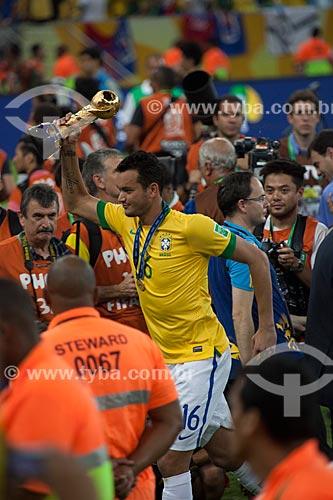 Assunto: Réver comemorando a conquista da Copa das Confederações no Estádio Jornalista Mário Filho - também conhecido como Maracanã / Local: Maracanã - Rio de Janeiro (RJ) - Brasil / Data: 06/2013