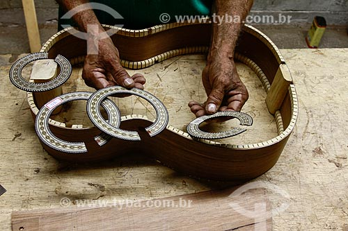 Roseta de violão produzida na Oficina Escola de Lutheria da Amazonia (OELA)  - Manaus - Amazonas - Brasil