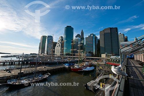 Assunto: Vista de Manhattan a partir do Pier 17 / Local: Nova Iorque - Estados Unidos da América - EUA / Data: 01/2013