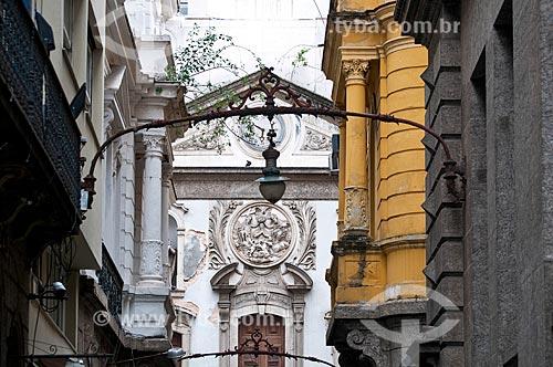 Assunto: Fachada da Igreja Nossa Senhora da Lapa Mercadores (1753) / Local: Centro - Rio de Janeiro (RJ) - Brasil / Data: 06/2013