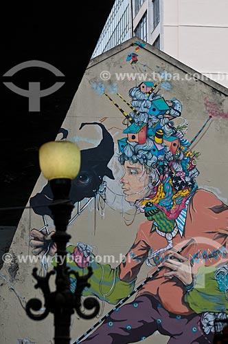 Assunto: Grafite em muro no cento da cidade / Local: Centro - Rio de Janeiro (RJ) - Brasil / Data: 06/2013