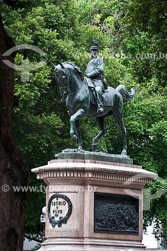 Assunto: Estátua equestre do General Osório (1884) na  Praça XV de Novembro / Local: Centro - Rio de Janeiro (RJ) - Brasil / Data: 06/2013
