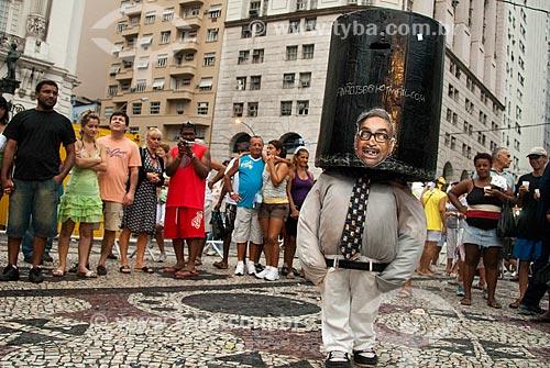 Assunto: Homem fantasiado de Seu Creysson um personagem fictício do humorístico brasileiro Casseta e Planeta / Local: Centro - Rio de Janeiro (RJ) - Brasil / Data: 02/2008