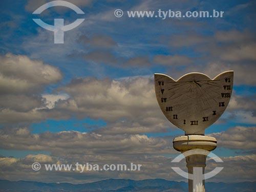Assunto: Relógio de sol na Praça da Igreja Matriz de Conceição de Ibitipoca / Local: Distrito de Conceição de Ibitipoca - Lima Duarte - Minas Gerais (MG) - Brasil / Data: 04/2009