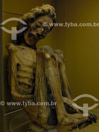 Assunto: Múmia indígena no Museu Nacional / Local: São Cristovão - Rio de Janeiro (RJ) - Brasil / Data: 10/2007