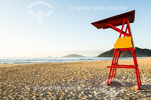 Assunto: Posto de salva vidas na Praia Brava / Local: Florianópolis - Santa Catarina (SC) - Brasil / Data: 07/2013
