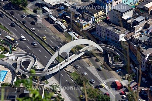Assunto: Vista da passarela da Rocinha e autoestrada Lagoa - Barra / Local: São Conrado - Rio de Janeiro (RJ) - Brasil / Data: 07/2013