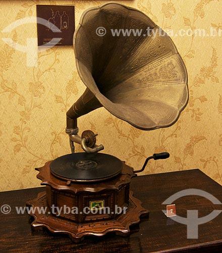 Assunto: Gramofone exposição no Museu Casa de Quissamã - antiga residência do Visconde de Araruama / Local: Quissamã - Rio de Janeiro (RJ) - Brasil / Data: 06/2013