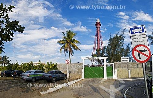 Assunto: Farol de São Tomé (1882) - projetado pelo arquiteto Gustavel Eiffel com 45 metros de altura / Local: Farol de São Thomé -  Campos dos Goytacazes - Rio de Janeiro (RJ) - Brasil / Data: 06/2013