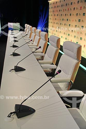 Assunto: Auditório para coletiva de imprensa da Jornada Mundial da Juventude (JMJ) no Forte de Copacabana / Local: Copacabana - Rio de Janeiro (RJ) - Brasil / Data: 07/2013