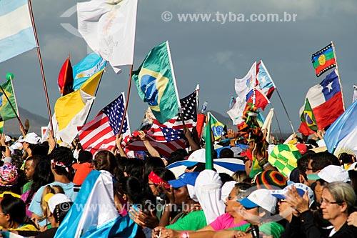 Assunto: Peregrinos durante a Jornada Mundial da Juventude (JMJ) / Local: Copacabana - Rio de Janeiro (RJ) - Brasil / Data: 07/2013