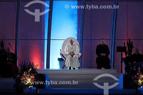 Assunto: Papa Francisco (1936 - ) durante a  Jornada Mundial da Juventude / Local: Copacabana - Rio de Janeiro (RJ) - Brasil / Data: 07/2013