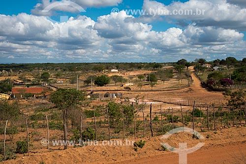 Assunto: Aldeia ou comunidade Malhador - Terra Indígena Kapinawá no Parque Nacional do Catimbau -  Imagem licenciada -  ACRÉSCIMO DE 100% SOBRE O VALOR DE TABELA / Local: Buíque - Pernambuco (PE) - Brasil / Data: 06/2013