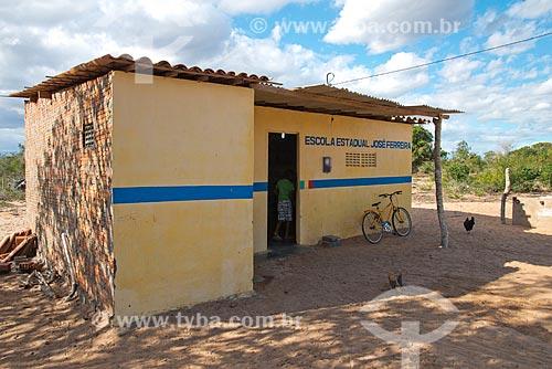 Assunto: Escola Estadual Indígena Kapinawá na aldeia ou comunidade Batinga - Imagem licenciada -  ACRÉSCIMO DE 100% SOBRE O VALOR DE TABELA / Local: Buíque - Pernambuco (PE) - Brasil / Data: 06/2013