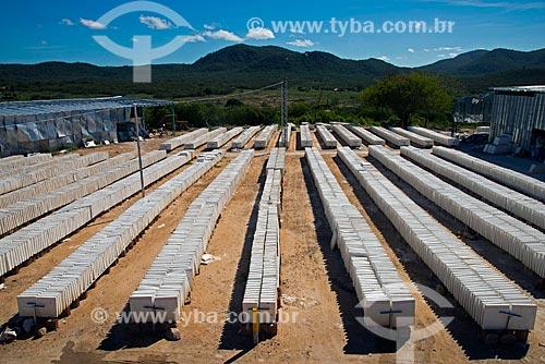 Assunto: Placas de gesso utilizadas na fabricação de portas corta fogo secando ao sol / Local: Custódia - Pernambuco (PE) - Brasil / Data: 06/2013