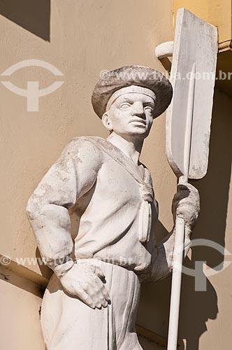 Assunto: Detalhe da fachada do prédio da Inspetoria da Receita Federal (Alfândega) na Rua Siqueira Campos / Local: Porto Alegre - Rio Grande do Sul (RS) - Brasil / Data: 07/2013