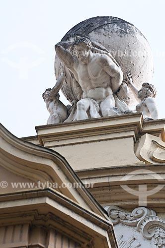 Assunto: Detalhe da fachada do antigo prédio do Correios e Telégrafos, atual Memorial do Rio Grande do Sul (1913) / Local: Porto Alegre - Rio Grande do Sul (RS) - Brasil / Data: 07/2013